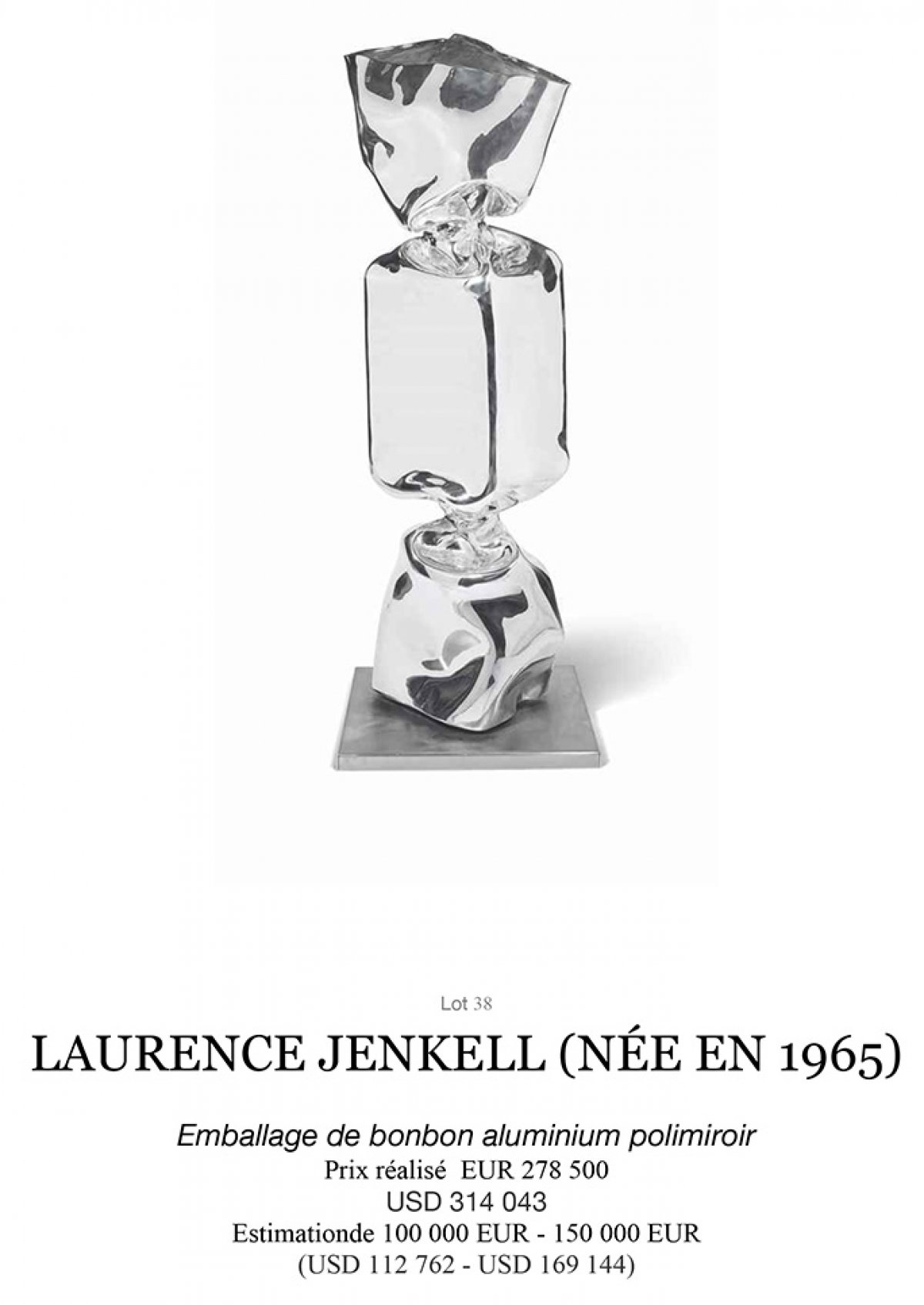 Auction Record for Laurence Jenkell